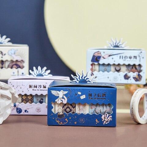 20 pcs lote estrela serie tarot dourado decoracao papel fita de mascara washi