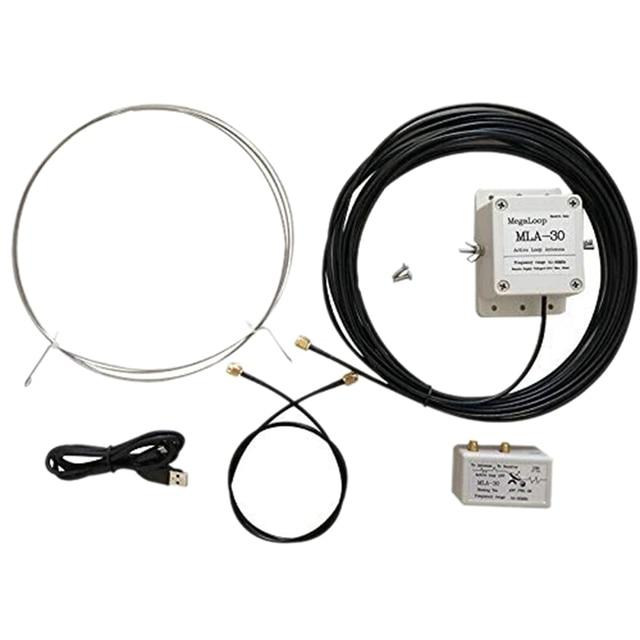 Hot MLA 30 Loop Antenna Active Receiving Antenna Low Noise Balcony Erection Antenna 100KHz   30MHz for HA SDR Short Wave Radio