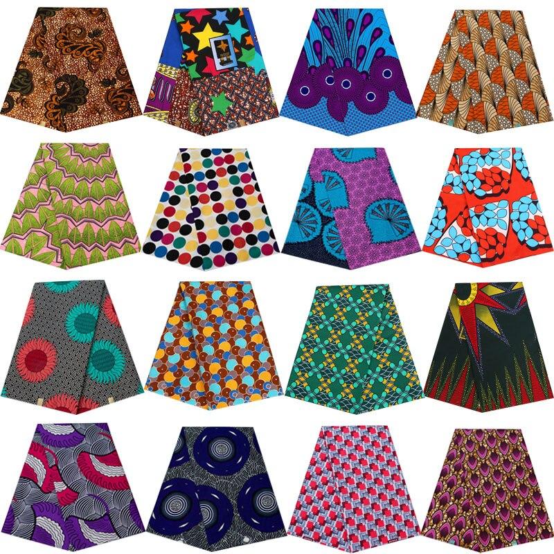 Africa Nigerian prints batik fabric real dutch wax patchwork sewing dress cloth polyester cheap price high quality Ankara tissu