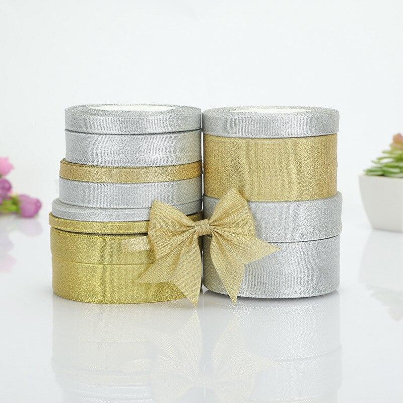 DIYHouse® 22M//Lot Glitter Golden Silver Ribbon Width 6-50MM Metallic Luster