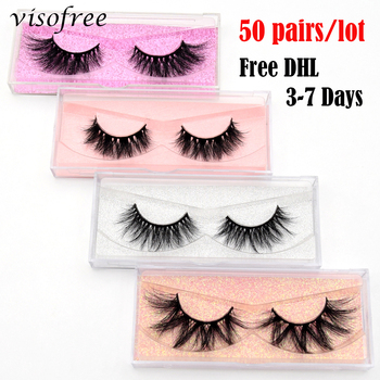 50 Pairs Free DHL Visofree 5D Mink Eyelashes 100% Cruelty Free 3D Mink Lashes Reusable Natural Eyelashes Makeup False Eyelashes