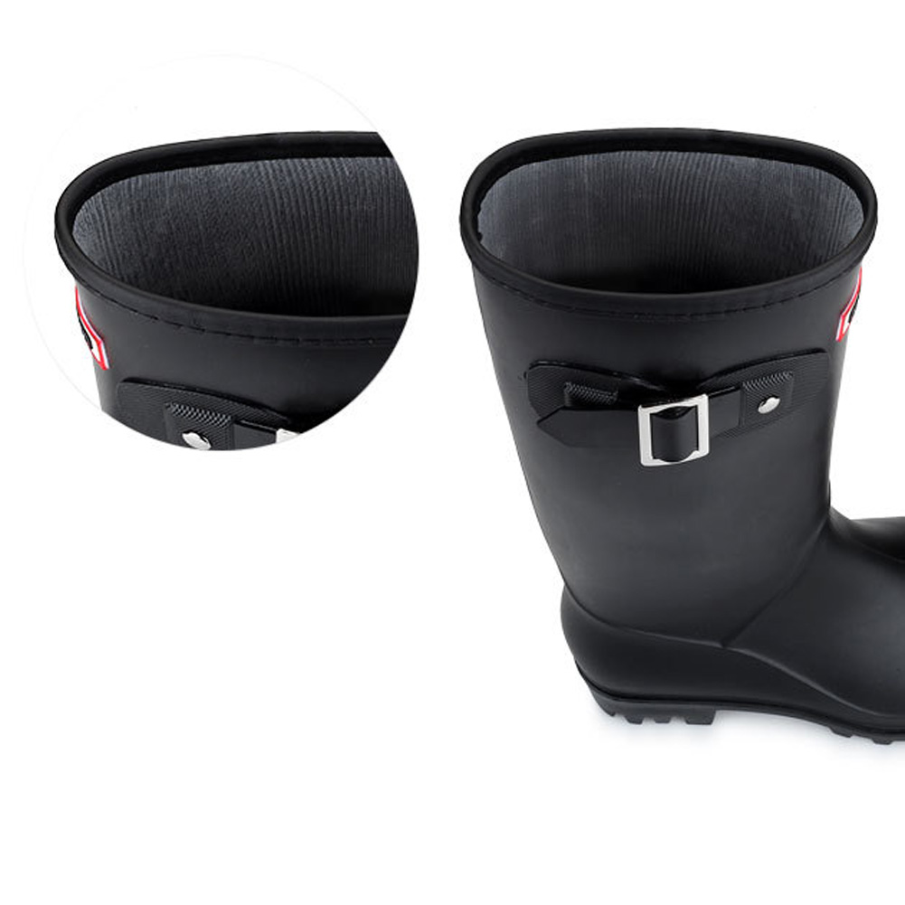 Image 3 - Women High Warm Lined Rain Boots Winter Anti slip Waterproof Insulated Buckles Pull on Cold Weather Oil Resistant Wellington-in Mid-Calf Boots from Shoes