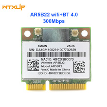 Двухдиапазонный 2,4G/5G Atheros AR5B22 AR9462 300 Мбит/с полумини PCIE wifi+ BT 4,0 Bluetooth 4,0 wifi сетевой адаптер