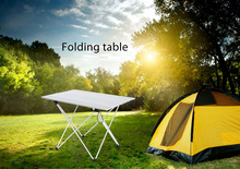 Portable Outdoor BBQ Camping Picnic Aluminum Alloy Folding Table Lightweight Rain-Proof Mini Rectangle Table