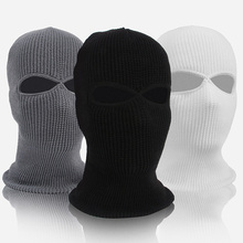 Winter Mask Neck Warmer Cap Wool Knitted Windproof Ski Face Cover Mask Cycling Snowmobile Men Women Full Face Mask Skiing Bibs