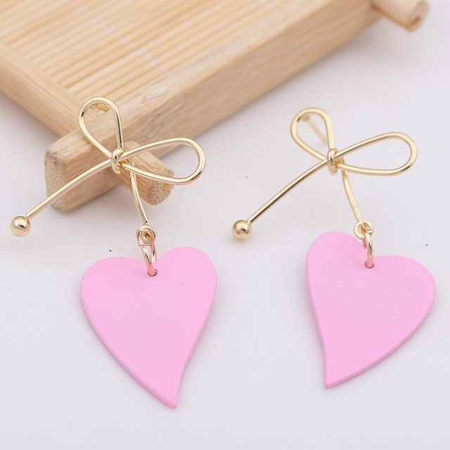 Lovely Heart Metal Earrings  4