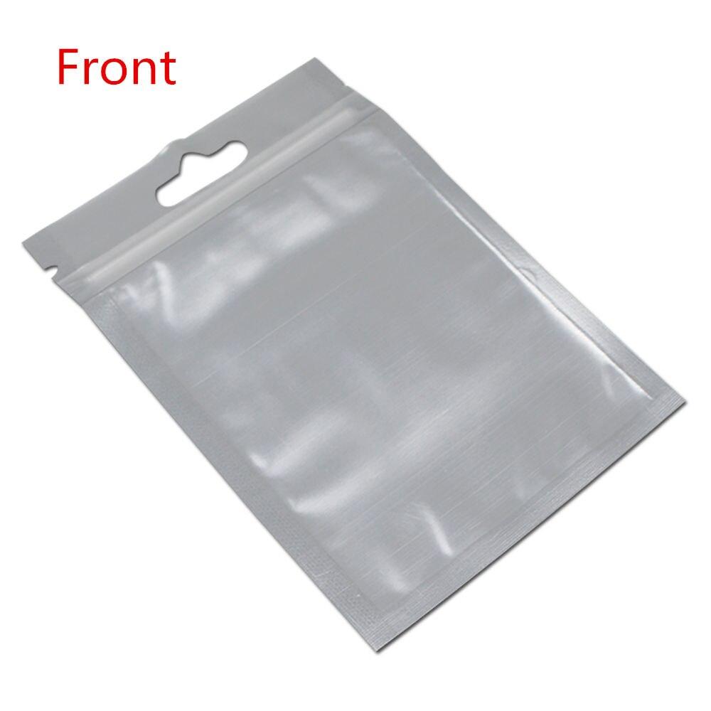 Papier d'aluminium Ziplock sacs électronique produit organisateur pochette emballage en plastique transparent Mylar sac accrocher trou pour le stockage de bijoux cadeau - 6