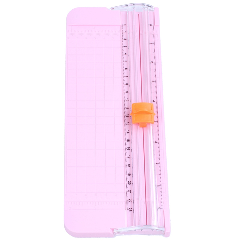 JIELISI 9090 Mini Small Slide Cutter Cut Paper Cutter Cutter Color:Pink