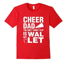 Mannen T-shirt Heren Tee Vision Cheer Dad Wallet Flip T-Shirt-Rt Vrouwen T-shirts(China)