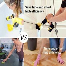 2/3.5/4 Inch Electric Drill Brush Power Scrubber Yellow Tool Cleaning Drill Bristles Car Bathroom Stiffness Electric Medium X3U1