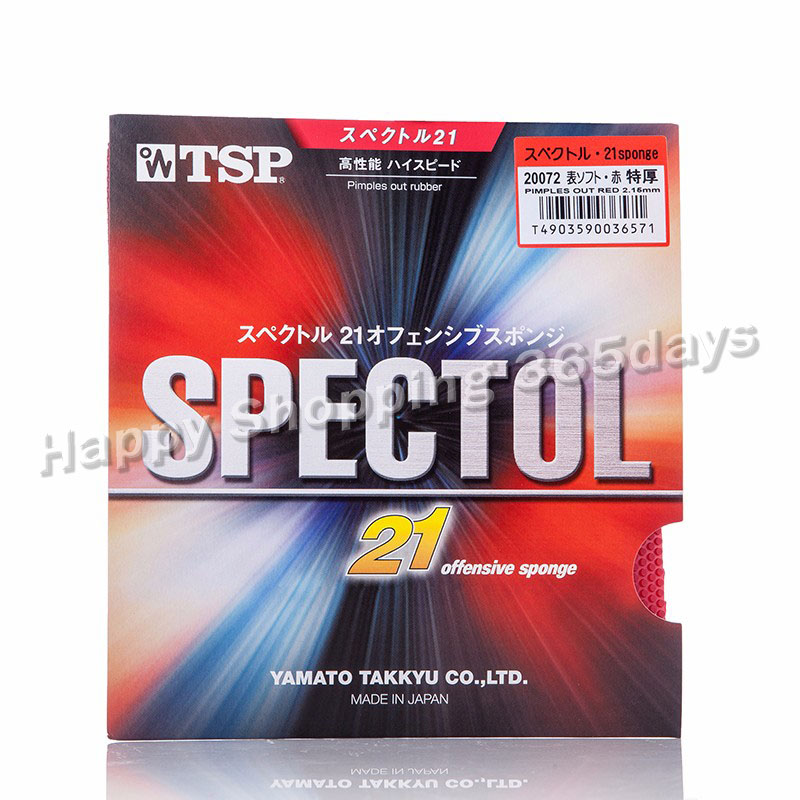 TSP Original SPECTOL 21 Offensive Sponge Ping Pang Rubber Pips-out Ping Pong Sponge Table Tennis Rubber  For  Spin