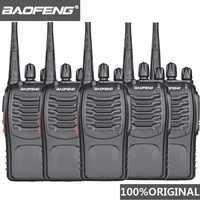 5 stücke Baofeng BF-888s Walkie Talkie UHF Handlichen Talky BF 888s 5W Wolki Tolki 888 CB Radio Comunicador PTT Walkie-talkie Transceiver
