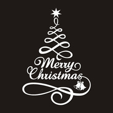 Merry Christmas Decor Tree Letters Wall Stickers Art Decal Mural Glass Window Sticker Xmas Home Room Decoration