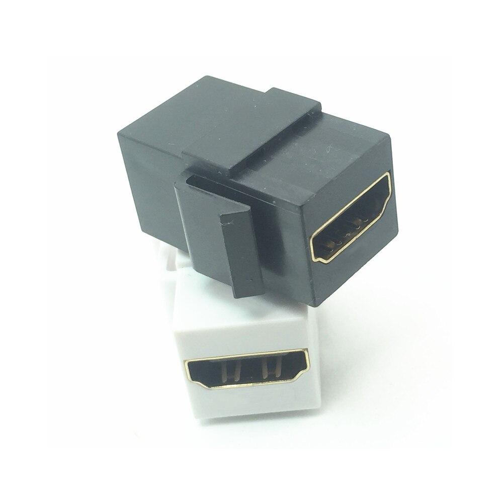 Hdmi-compatível keystone jack acoplador fêmea inserção snap-in conector soquete adaptador porta hdtv para painel de tomada de placa de parede