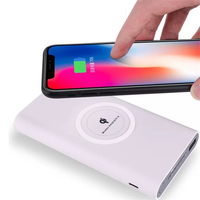 10000mAh Güç Bankası Qi Kablosuz iphone şarj cihazı 8 artı X Samsung S8 S9 Artı Powerbank Cep Telefonu Kablosuz Şarj Poverbank