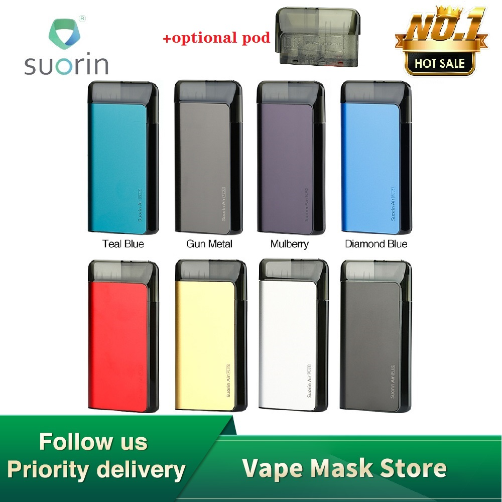 Original Suorin Air Plus Pod System Kit 930mAh With Five-level LED & Oil Baffle Design E-cig Vape Kit VS Suorin Air / DRAG Nano