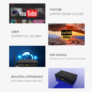 Image 3 - Vmade European C line HD DVB S2 M5 lnb satellite receiver full 1080P Spanish Portuguese Arabic TV box with USB Wifi reception