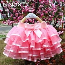 Girls Tutu Pettiskirt Baby Dancewear Birthday-Party Princess Elastic-Waist Candy-Color