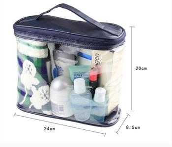 New Arrival Women Makeup Box Professional Portable Zipper Large Cosmetic Bag 2