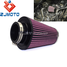Motorcycle Oval Straight Air Filter For Harley Softail Fatboy Breakout Slim Road King 2008-2016 RC-3680 High Flow Air Cleaner