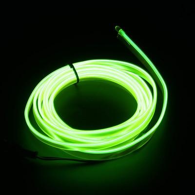 Подсветка для салона автомобиля 1 м/2 м/3 м/5 м полосы Авто Светодиодная лента гирлянда EL провод веревка украшение автомобиля неоновый светодиодный светильник Гибкая канатная трубка - Испускаемый цвет: Fresh green