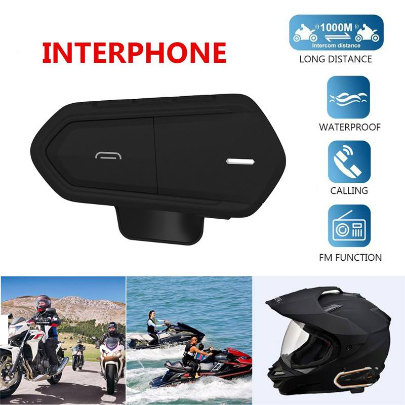 Motorcycle Helmet Bluetooth Headsets Intercom 1000M Waterproof Wireless With Function Automatically Answer The Phone Interphone