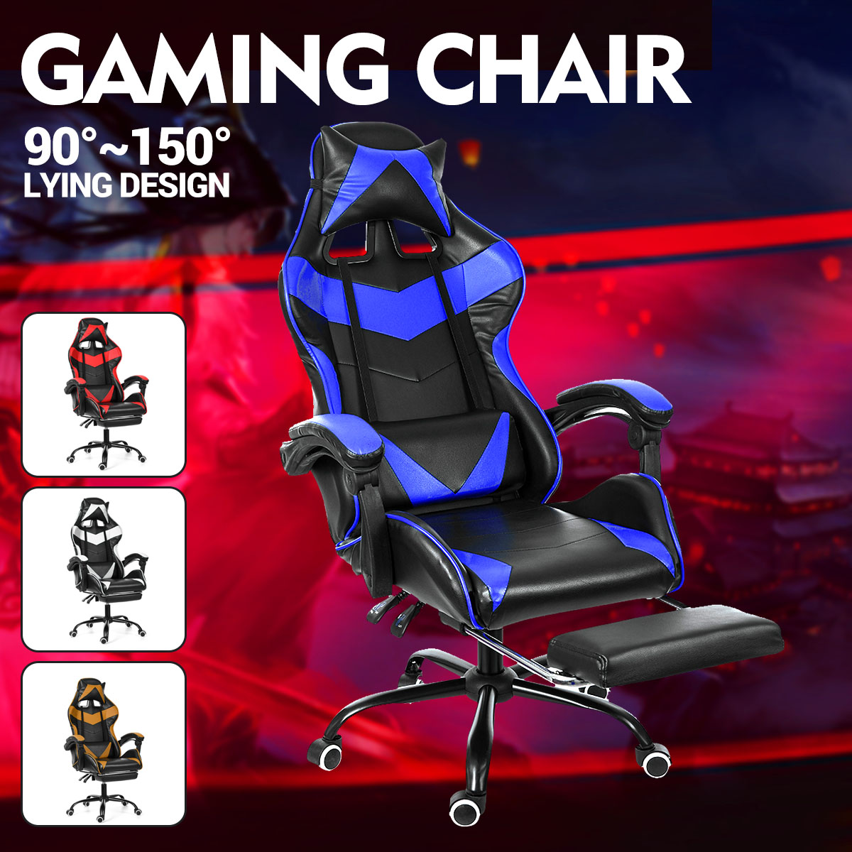 Internet Cafe Racing Leather Office Gaming Chair Best Children's Lighting & Home Decor Online Store