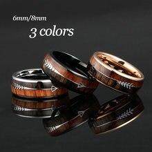 Кольца из карбида вольфрама для мужчин и женщин 6/8 мм обручальные