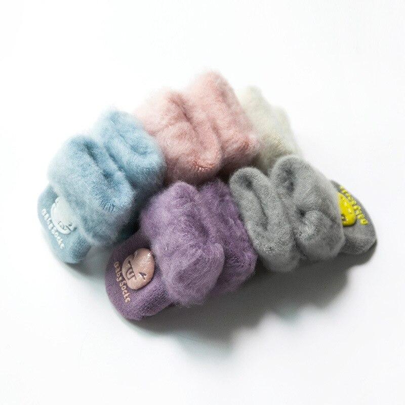 PPXX New Winter Thick Children Baby Cartoon Socks Infant Girl Cotton Soft Warm Antislip New Born Baby Socks Fur Gift 4