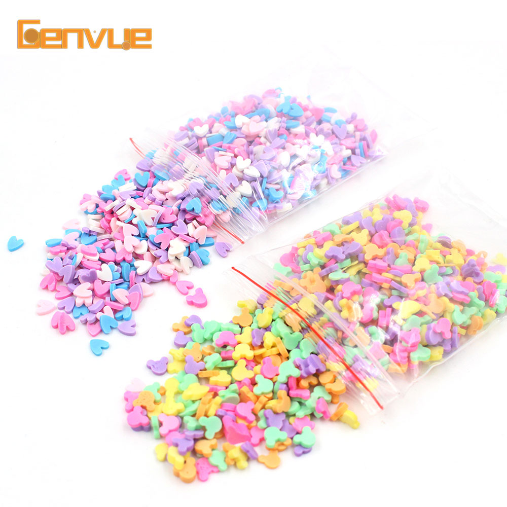 Putty Fake Sprinkles Polymer Clay Charms For Slime Accessories DIY Fluffy Slime Supplies Soft Slime Kit Sand Slime Decoration