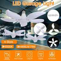 LED Garage Lights 4800lm AC 85-265V Working Lamps Adjustable Trilight Ceiling LED Lamp Folding Panels Warehouse basements Light