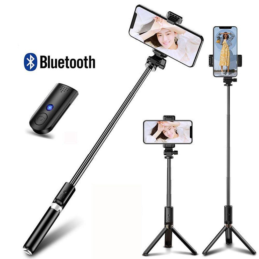 Vara sem fio bluetooth selfie para iphone xiaomi huawei monopé tripé dobrável handheld obturador remoto extensível selfie vara
