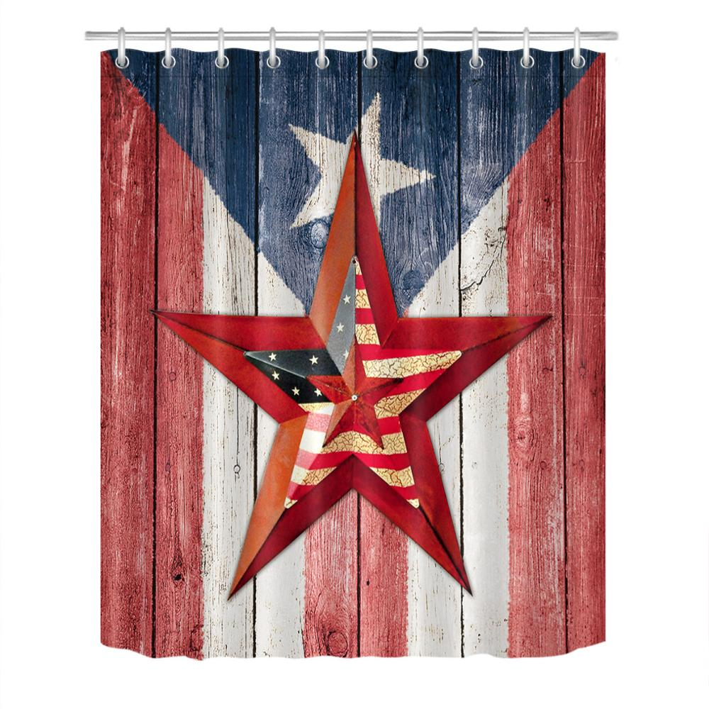 stars and stripes american flag shower curtain usa independence day home bathroom decor bath curtain waterproof large 180x200cm