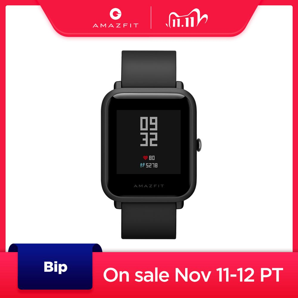 Nova versão global amazfit bip relógio inteligente gps glonass smartwatch relógios 45 dias de espera