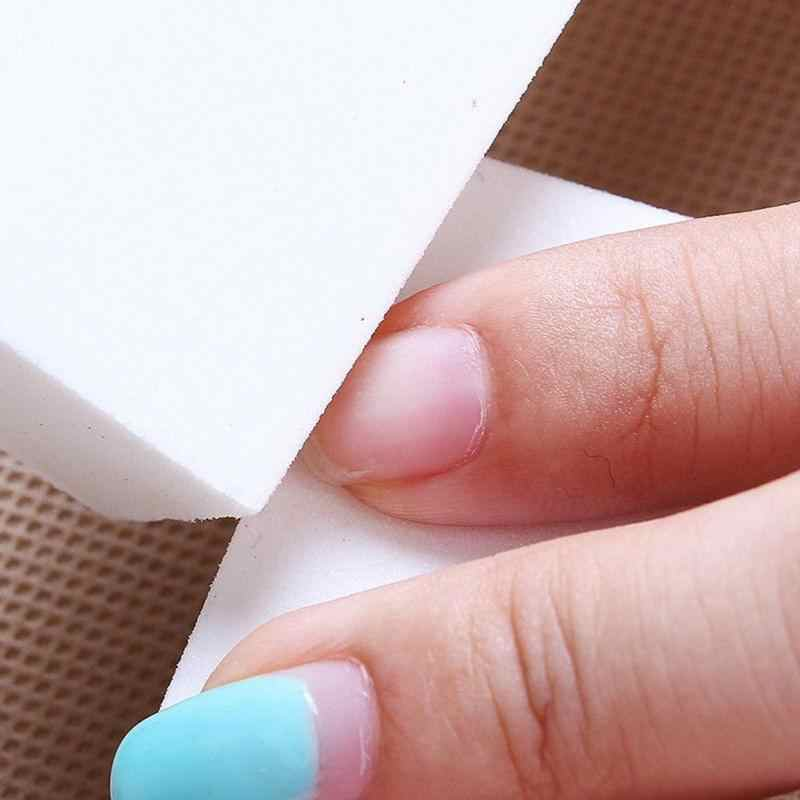 Draagbare Schoonmaken Buffer Spons Blok Stof Borstel Pedicure Manicure Nail Schuurblok Bestand Professionele Thuis Acryl Nail Gereedschap
