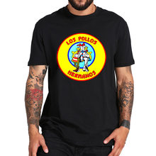 Breaking Bad-Camiseta de manga corta de Los Pollos, camisa de alta calidad de algodón 100% con cuello redondo, transpirable, talla europea