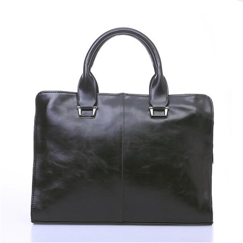 Business Leather Bag For Men High Quality Handbags Large Capacity Retro Fashion Briefcase, Leather Briefcases Men