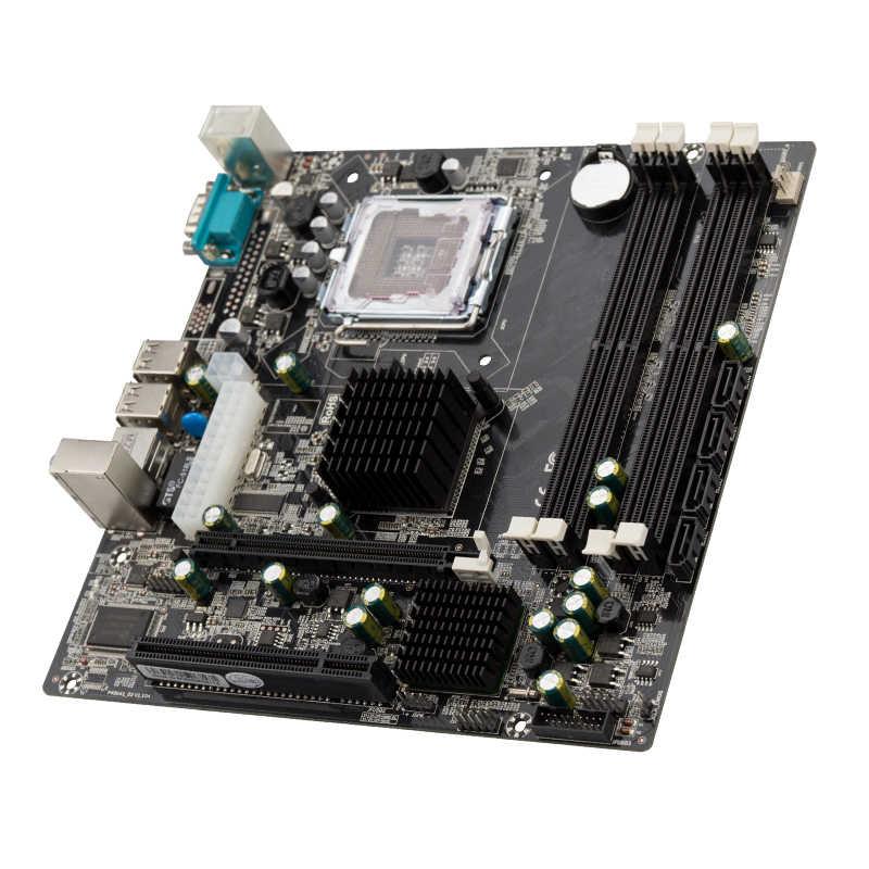 اللوحة الرئيسية JingSha P45 شرائح اللوحة الرئيسية مقبس منفذ SATA LGA775 DDR2 يدعم Xeon LGA 771 CPU