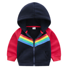 100% Cotton Rainbow Baby Jacket for Boy Autumn Fashion Kids Outerwear & Coats Boys Clothing Children Windbreaker Kids Jackets baby jackets for boys camouflage clothing children jacket boys fashion autumn cotton kids coats girls jackets and coats spring
