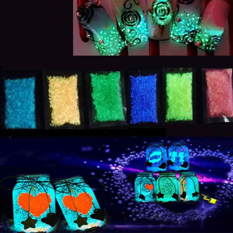 水槽夜光砂夜発光明暗グロー蛍光粒子観賞魚水槽の装飾