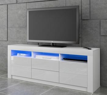 Panana Modern 160cm TV Unit Cabinet TV Stand Matt Body & High Gloss Doors LED Light Ship to Europe 2-8 days