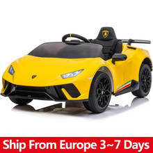 Electric Car For Children Lamborghini Four Wheel Drive 12V 6A Battery 2.4G Remote Control Car Baby Ride On Car Kids Toys Gift