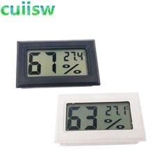 1 pces mini digital lcd interno conveniente sensor de temperatura medidor de umidade termômetro higrômetro calibre