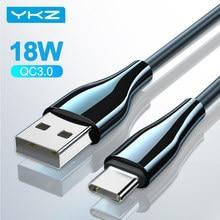 YKZ Micro USB Kabel Für iPhone 18W Typ C Schnelle Ladegerät USB C Quick Charge QC 3,0 Android Daten kabel für Samsung Xiaomi Draht