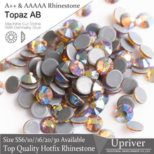 Upriver A++ Topaz AB SS6-SS20  1440pcs/288pcs Loose Iron On Shiny Strass  Hotfix Rhinestones For Bridals Designs