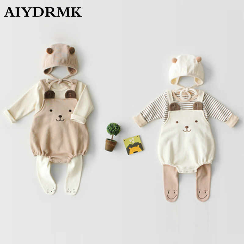 Baby Clothes Boy Autumn Baby Girl Romper Cotton Newborn Baby Rompers Infant Baby Boy Romper Toddler Overalls Jumpsuit with Hat