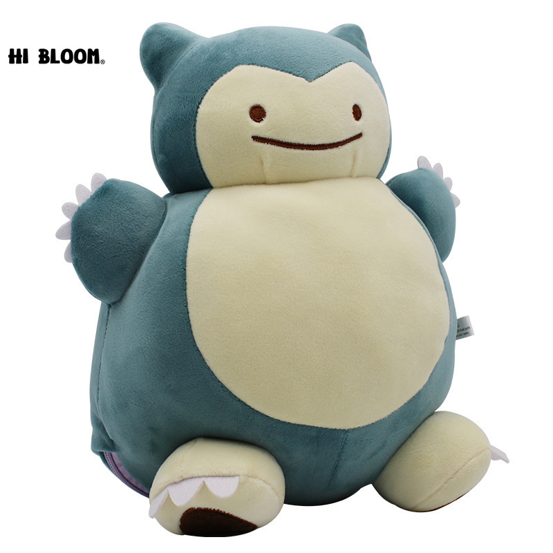 30CM Pikachu Ditto Metamon Snorlax Inside-Out Cushion NEW Dual-use Pillow Figure Toys Cartoon Kawaii Stuffed Plush Doll Toy Gift