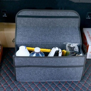 Image 4 - Auto Trunk Organizer Auto Lagerung Tasche Fracht Container Box Feuerfeste Verstauen Aufräumen Halter Multi Tasche Auto Styling 50*17*24cm