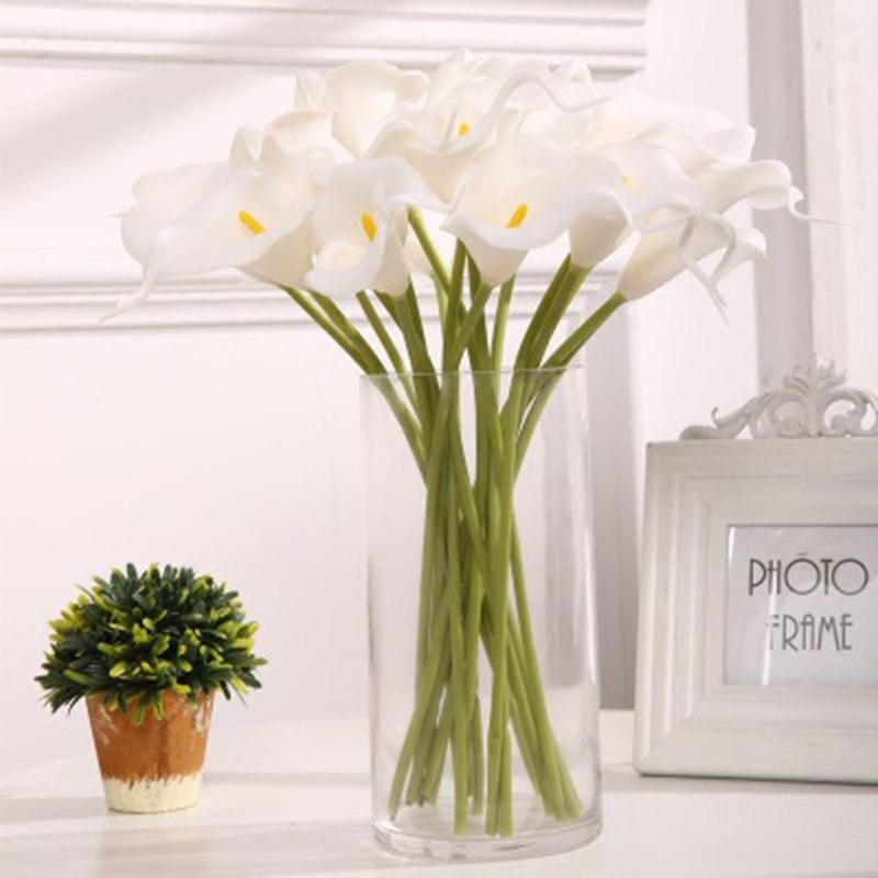 10PCS Artificial Calla Lily Flowers Single Long Stem Bouquet Real Touch Flower