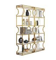 Nordic landing shelf light luxury beauty shop cosmetics gold display cabinet nail display jewelry shelf